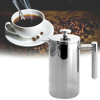 Stainless Steel French Press Coffee Maker Pot Handmade Coffee Kettle with Filter