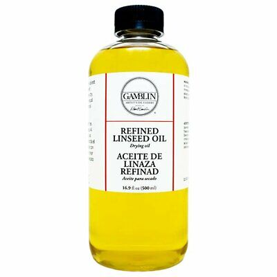 Gamblin Alkali Refined Linseed Oil 16 oz Bottle