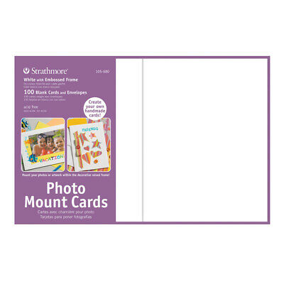 """Strathmore Photo Mount Cards 100 Pack 5x6-7/8"""" - White"""