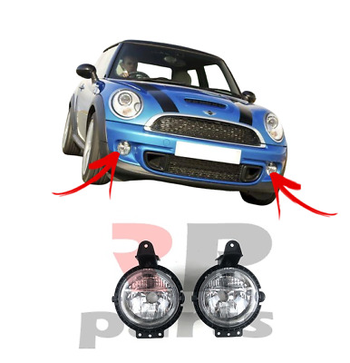 For Mini Cooper One Clubman 07-15 Front Bumper 2X Foglight Lamp Left And Right