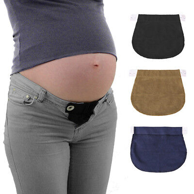 2Pcs Pregnant Women Waistband Belt Adjustable Jeans Pants Extender Maternity AU