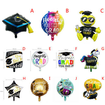 2019 Graduation Balloons Grad Globos Gift Back To School Party Decorations ZH