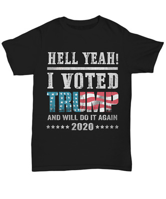 Vote Donald Trump Flag 2020 Election T-Shirt Political Unisex Tee Gift Patriot