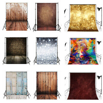 Backdrop Glitter Wall Wooden Floral Photo Photography Vinyl Background Studio DY