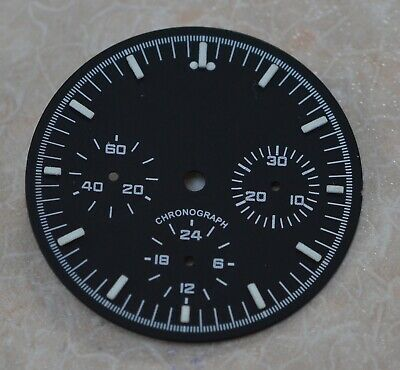 Black Chronograph  Dial for Seagull ST1903 TY2903 Chronograph movement 32.5mm