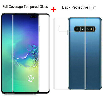 Full Cover Tempered Glass Protector+Back Film For Samsung Galaxy S10 Plus S10e