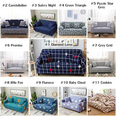 Stretch Sofa 1 2 3 4 Seater Protector Couch Slipcover L Shape Loveseat Cover