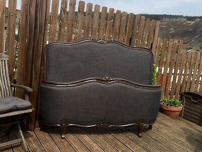 Antique/Vintage French Demi Corbeille Double Bed, courier available