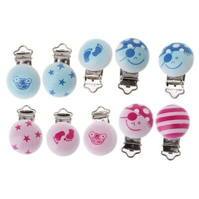 5pcs/lot Baby Pacifier Clip Holder Soother Infant Pacifier Dummy Clips For Baby