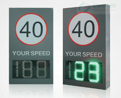 Glare-Led Radar Speed Sign Displayed By Two Digital Characters (02