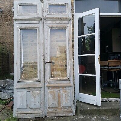 Antique French Double Doors. Bistro Vintage Conservatory