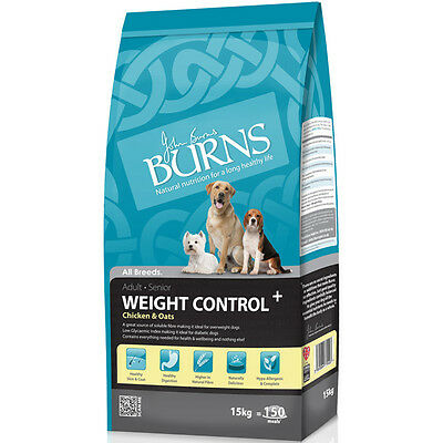 2 x 15kg  Burns Chicken & Oats dog  Weight Control+ diabetic only £44.75 each!