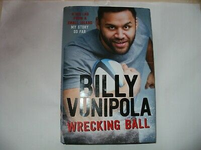 Signed Book-Billy Vunipola-Wrecking Ball,england,saracens,wasps Rugby