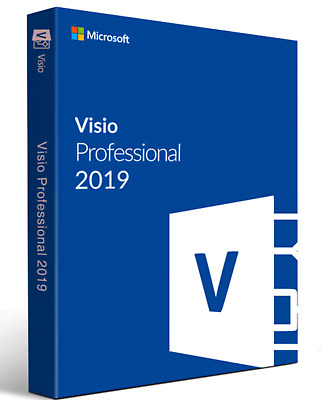 Microsoft Visio 2019 Pro Professional Official Download & Key- 32/64 Bit