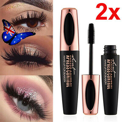 4D Silk Fiber Eyelash Mascara Extension Makeup Black Waterproof Eye Lashes NEW