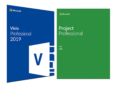 Microsoft Visio & Project 2019 Professional Official Download & Key- 32/64 Bit