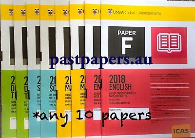 ICAS Past Papers Year 2, 3, 4, 5, 6, 7, 8, 9, 10 - Any 10 papers