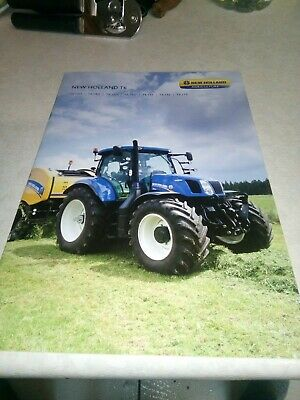 new holland tractor t6 sales brochure  28 pages