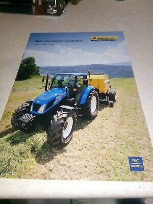 new holland tractor t4 powerstar sales brochure  20 pages