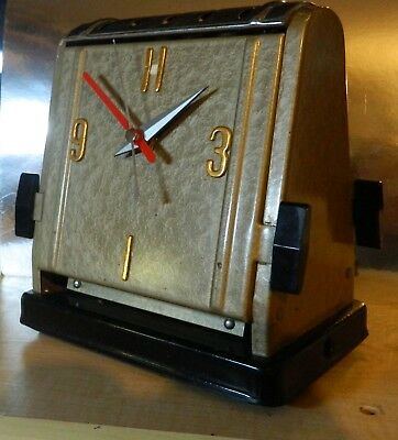 """Upcycled Vintage Toaster:Silent qtz:Steel:7"""" x 7"""":Industrial:Original Paint:LUME"""