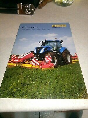 new holland tractor t8 sales brochure  30 pages