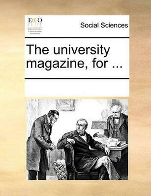 University Magazine, for ... by See Notes Multiple Contri (English) Paperback Bo