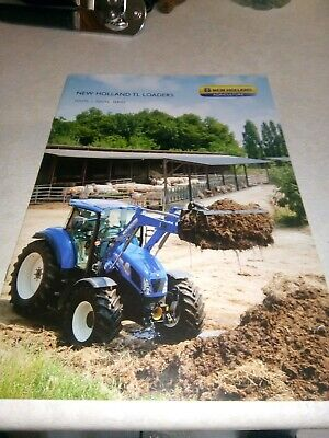 new holland tractor tl loaders sales brochure  16 pages