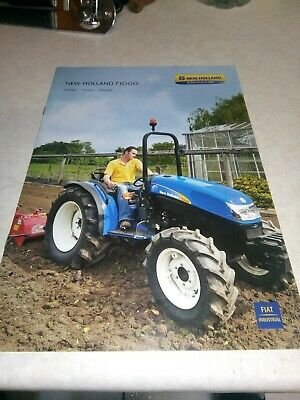 new holland tractor t3000 sales brochure  12 pages