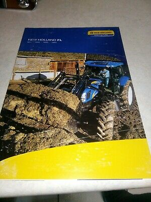 new holland tractor fl loaders sales brochure  12 pages