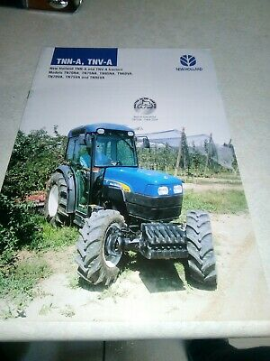 new holland tractor tnn-a tnv-a sales brochure  16 pages