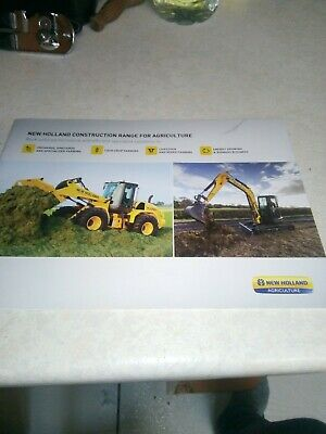 new holland construction range for agriculture sales brochure  24 pages