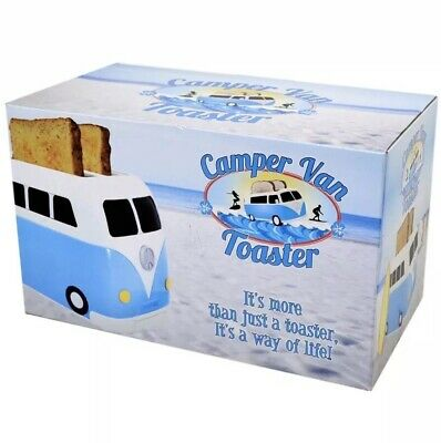 Brand New Boxed Blue VW Camper Van 2 Slice Toaster By Fizz Creations-NEW