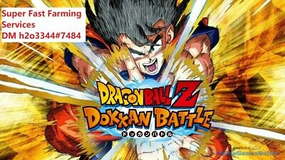 Super Fast Dokkan Battle Farming Services - IOS & Android both Global & JP