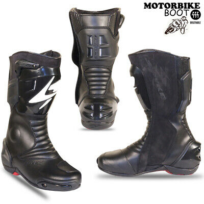 Motorbike Leather Boots Spyke Sports Racing Bike Protection Shoes