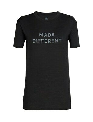 Icebreaker Tech Lite Short Sleeve Crewe Women Made Diffrent T-Shirt Damen black