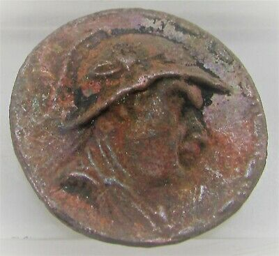 Ancient Indo-Greek Bronze Coin Euracrates I