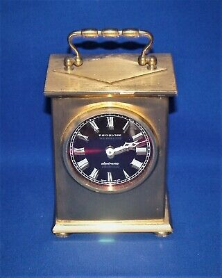 Rare Vintage 'DERBY Vox electronic' Solid Brass Carriage Clock