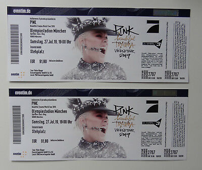 2x Tickets, PINK  Beautiful Trauma World Tour 2019 in München, Innenraum