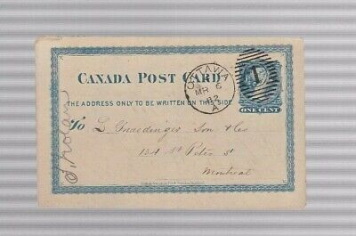 Canada Postcard 1882 Ottawa To Montreal Great Cancel