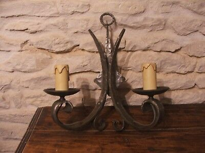 Gothic / Medieval Style Wall Light Hand Forged wrought iron