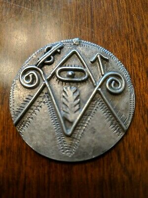 Islamic Koran Amulet  Antique  Silver niello Jewelry Star Moon Hand Crafted
