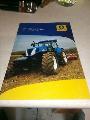 new holland tractor t7000 brochure  28 pages