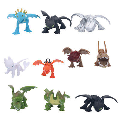 10PCS How To Train Your Dragon 3 Action Figure Light Night Fury Toothless Toys