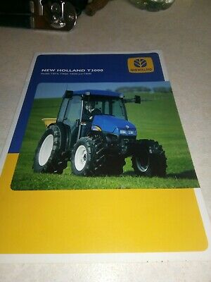 new holland tractor t3000 brochure  12 page