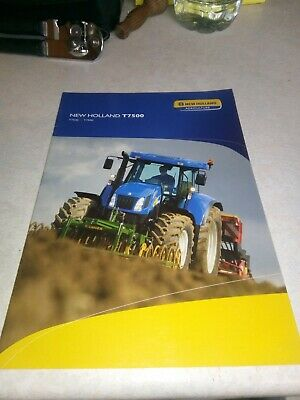 new holland tractor t7500 brochure  20 page