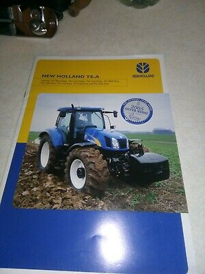 new holland tractor ts-a brochure  24 pages