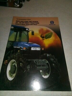 new holland tractor tnf range sale brochure  20 pages