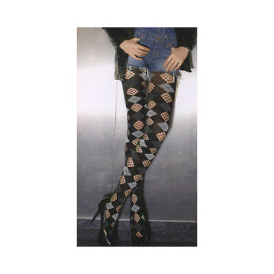 "Trasparenze ""Shanghai"" Black/Grey/Fishnet Diamond Patterned Tights"