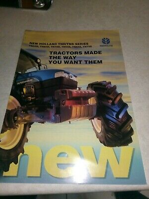 new holland tractor tnd/tns series sale brochure  8 pages