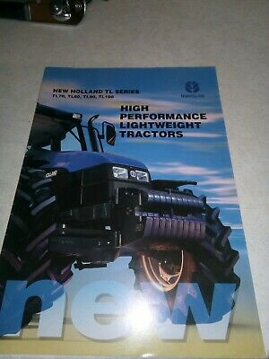 new holland tractor tl sale brochure  8 pages